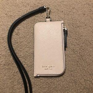 Kate Spade Card Case Lanyard/Holder